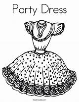 Coloring Pages Party Printable Summer Drawing Costume Gown Outline Pretty Ll Dress4 Twistynoodle Built California Usa Noodle Colors sketch template