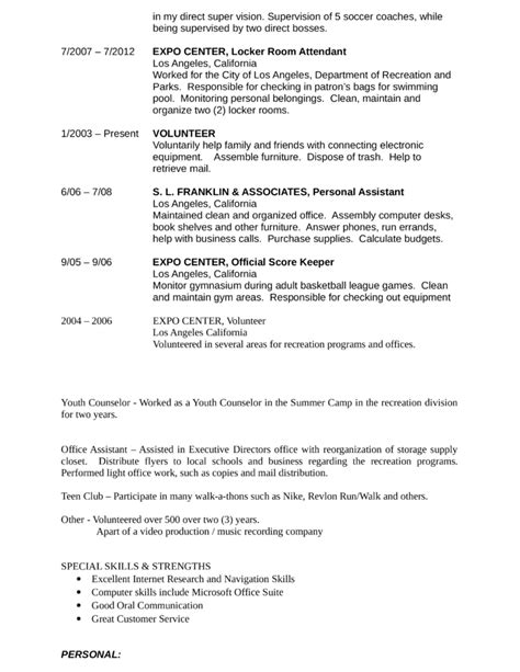 youth counselor resume sle resume ideas