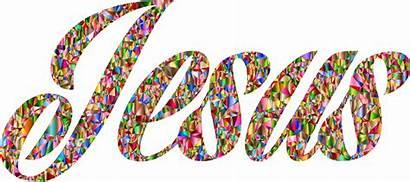 Jesus Messiah Clipart Typography Christ Chromatic Luminous