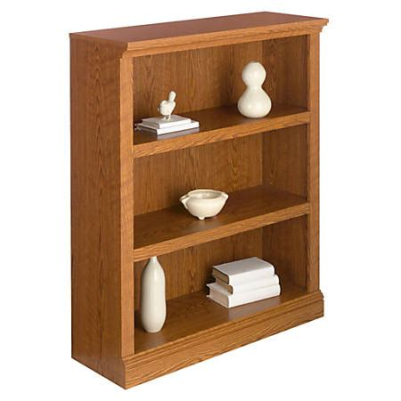 Realspace Premium Bookcase 3 Shelf Carolina Oak By Office