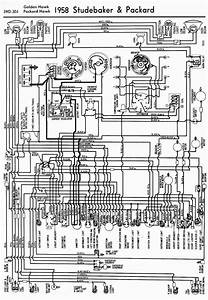 Wiring Diagrams Of 1958 Studebaker And Packard Golden Hawk And Packard Hawk