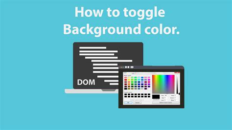 Javascript Background Color Javascript Lesson 36 Dom How To Toggle Background Color