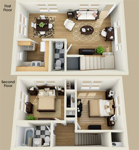 Two Floor Bed Basement Remodeling Ideas Floor Plans With Basement
