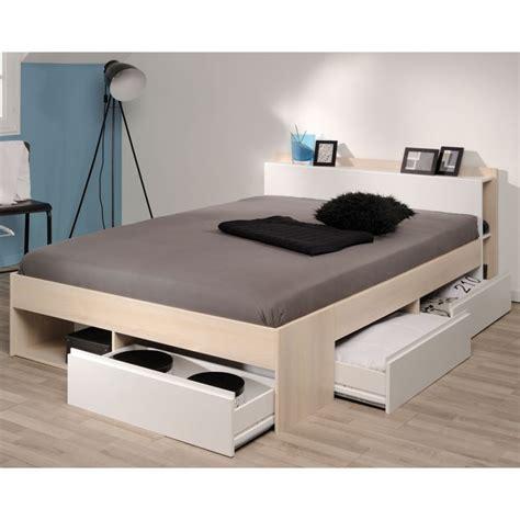 ikea cuisine soldes cadre de lit à tiroirs tête de lit 160 200 acacia blanc