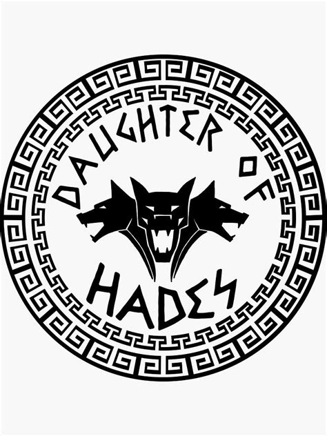 'Daughter of Hades' Sticker by Emma1706 in 2020 | Hades, Greek gods, Hades drawing