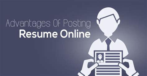 posting resume advantages