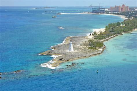 nassau harbour lighthouse in paradise island np bahamas