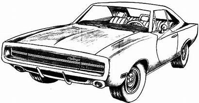 Dodge Coloring Challenger 1970 Gt Kleurplaat Cars