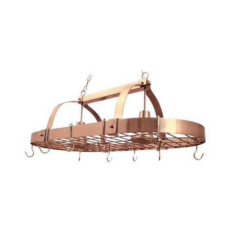 Copper Pot Rack With Lights by Designs 2 Light Copper Kitchen Pot Rack Light With
