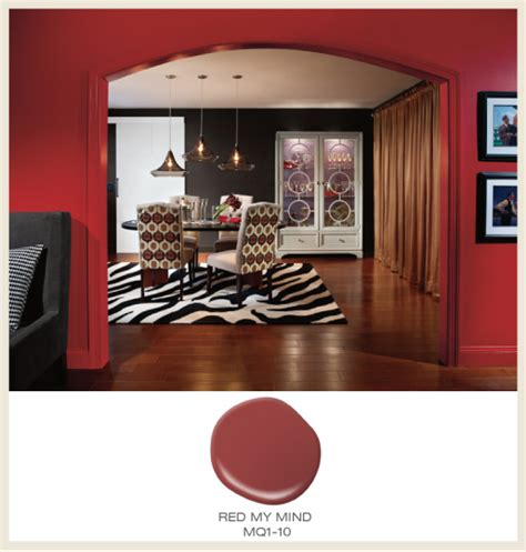 colorfully behr color of the month red hot