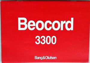 Bang  U0026 Olufsen Beocord 3300  Manual  B U0026o   12 Pages