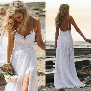 sexy fancy beach wedding dresses spaghetti backless white With sexy beach wedding dress