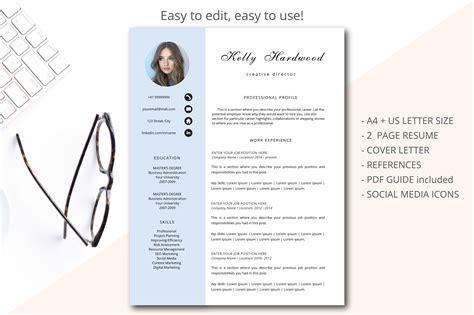 creative resume template printable res design bundles