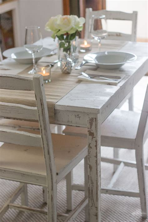 ikea dining table and 6 chairs distressing with chalk paint ikea table and chairs makeover