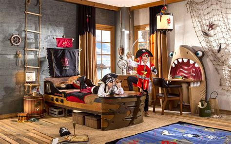 kids pirate ship bed themed bedroom decor  accessories