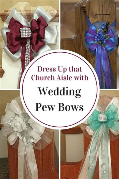 dress   aisle  wedding pew bows package