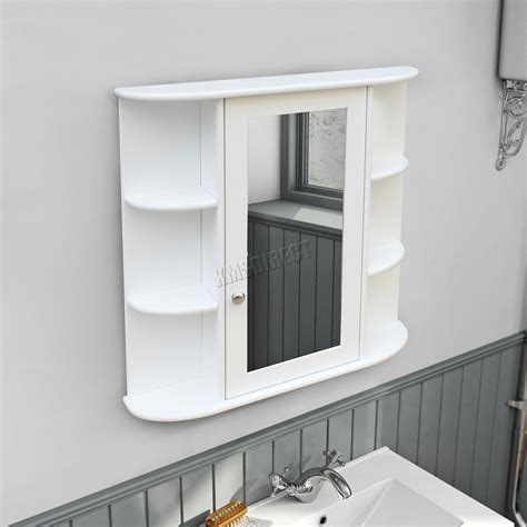 Bathroom Cupboard With Mirror by Foxhunter Wall Mount Mirror Bathroom Cabinet Unit Storage