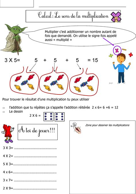 multiplication ce le blog de monsieur mathieu