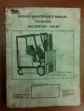 heavy equipment manuals books  yale forklift  sale