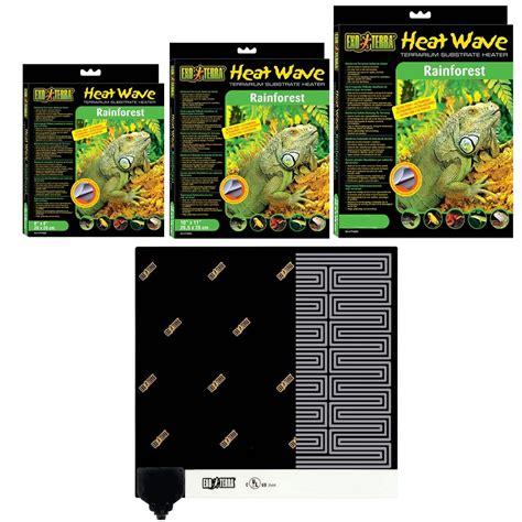 reptile heat ls uk exo terra rainforest heat wave mat reptile vivarium