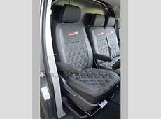 VW Transporter T5 Seat Covers Black & Pewter Grey w