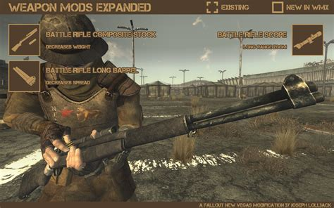 weapon mods expanded fallout  vegas weapons images