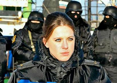 Russian Soldier Female Navy Emercom Members Uniform