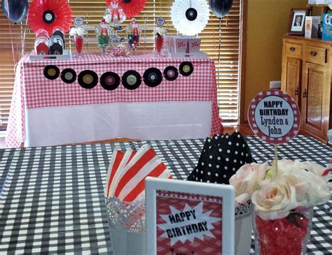"""1950's Rock And Roll  Birthday """"1950's Themed 60th"""