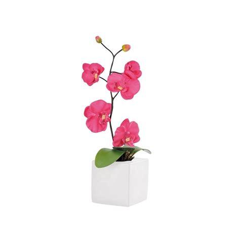 orchid 233 e d 233 co fuschia en tissu avec pot 43 cm