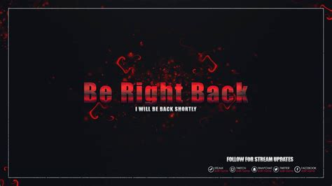 twitch be right back screen template how to silver red twitch stream pack kireaki
