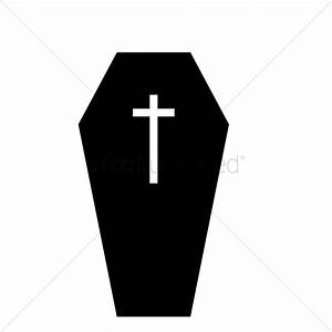 Coffin silhouette Vector Image
