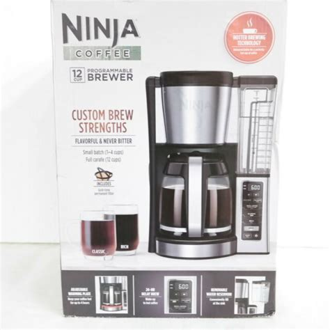 Water reservoir, and thermal flavor extraction (ce201), black/stainless steel hotter brewing technology: Ninja CE251 12-Cup Programmable Brewer Coffee Maker - Silver for sale online   eBay