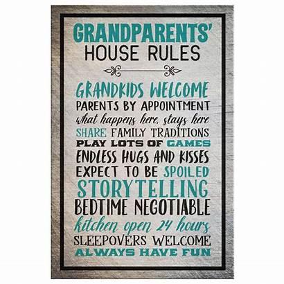Rules Canvas Grandparent Premium Grandparents Quote