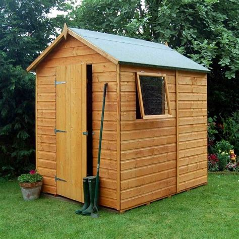 Shiplap Shed by Rowlinson Premier Shiplap Apex Shed 5x7 Garden