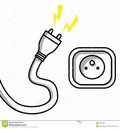 Socket Clipart Plug Sockets Unplugged Cable Illustration