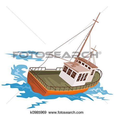 Clipart Of Fishing Boat by Fishing Boat Clip Art 101 Clip Art