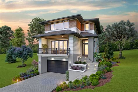 contemporary house plan    sloping lot  architectural designs house plans