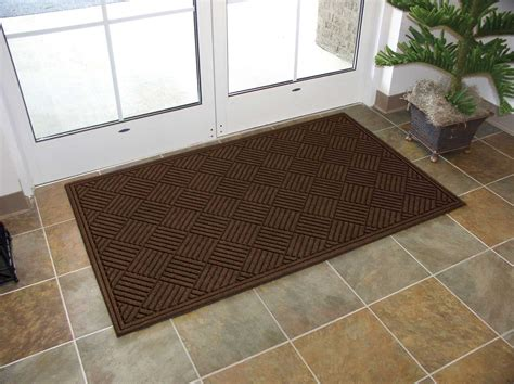 Indoor Doormat by Ecomat Crosshatch Indoor Outdoor Entrance Floor Mat