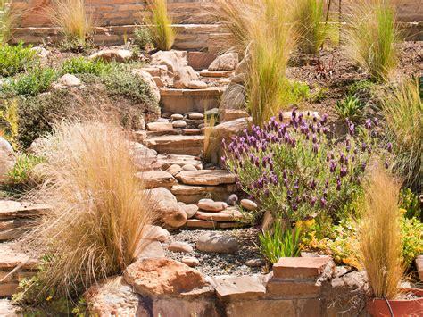 rock garden private residence leaf mortar