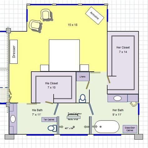 how to design a bathroom floor plan his master bathroom floor plan it for the