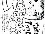 Tongue Coloring Getdrawings Tattle sketch template