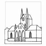 Cathedral Coloring Sheet St Basil Places Designlooter 300px 1kb Freecoloringsheets sketch template