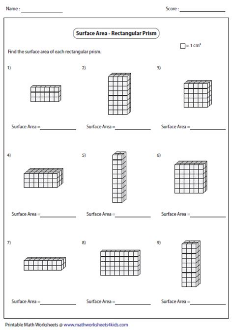 volume of rectangular prisms worksheet worksheets