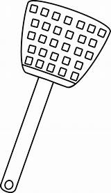 Fly Swatter Clip Outline Transparent Pluspng sketch template