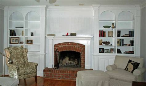 Fireplace With Bookcase Surround by Fireplace Bookshelves Tags Built In Projects