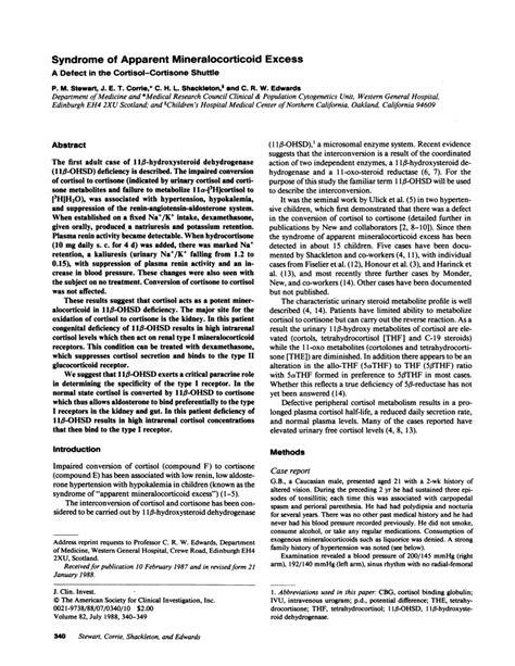 Hypertency Hypertension With Hypokalemia Seen In