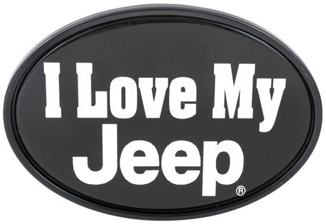 I Love My Jeep 2 Quot Trailer Hitch Receiver Cover Knockout
