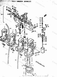 Suzuki Motorcycle 1978 Oem Parts Diagram For Carburetor