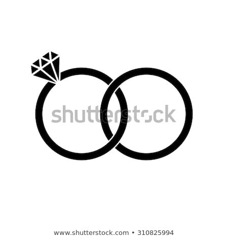 wedding rings brilliant sign icon engagement stock vector 310825994