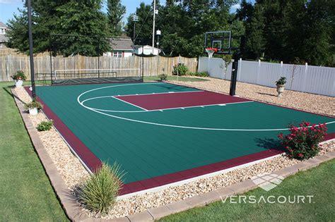 outdoor court dimensions versacourt indoor outdoor backyard basketball courts